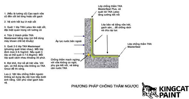 mô phỏng cách chống thấm ngược