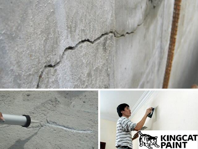 3 bước sử dụng keo trám vết nứt tường hiệu quả nhất