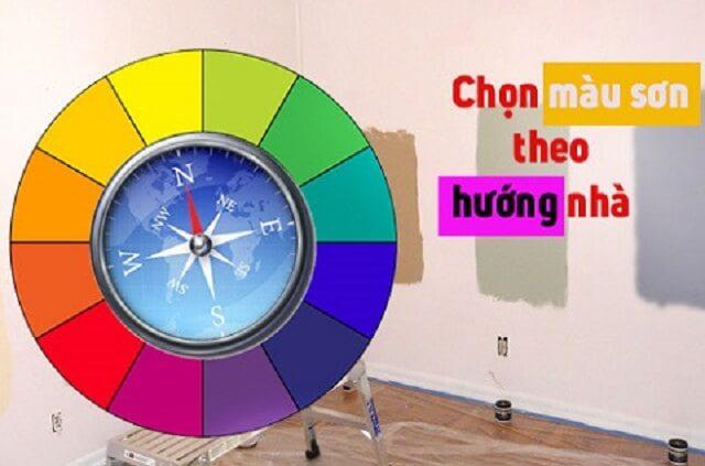chú ý lựa chọn màu sơn phù hợp với ngôi nhà