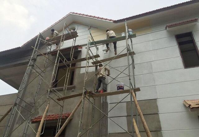 quy trình sử dụng sơn nước ngoài trời