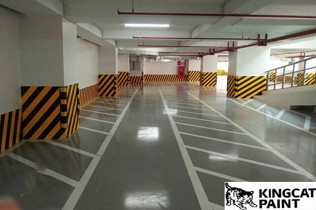 sơn kẻ vạch giao thông tầng hầm
